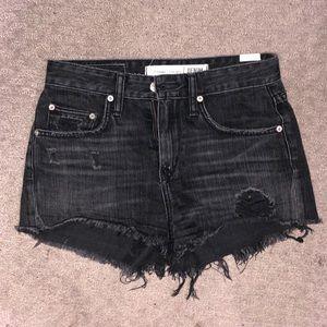 Lovers + Friends black denim shorts